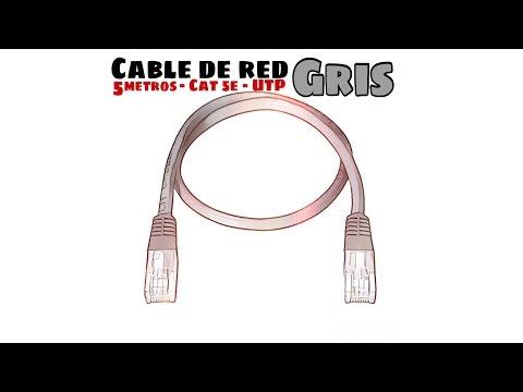 Video de Cable de red UTP CAT5E 5 M Gris