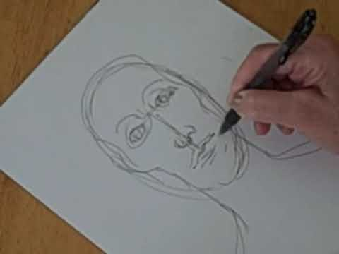 Draw a face with pen and ink youtube draw a face with pen and ink ccuart Image collections