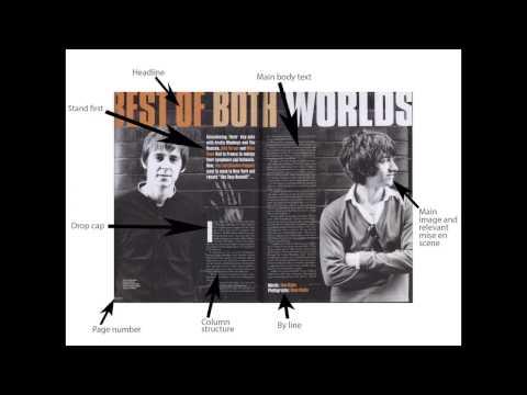 Media analysis magazine double page spreads