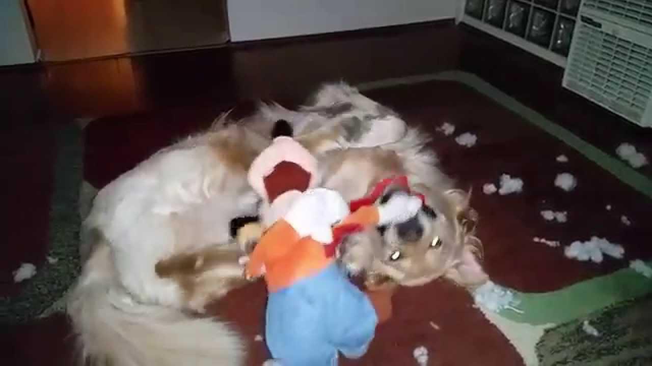Cute Dog Destroying Goofy Disney Plush Stuffed Animal Toy