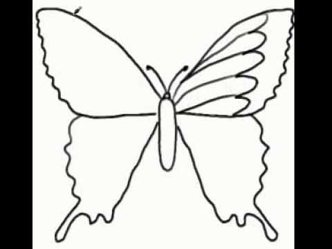 How To Draw A Butterfly Kelebek Nasıl çizilir Youtube
