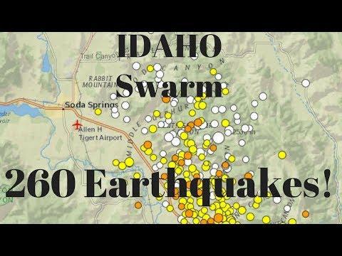 Big Quake Swarm USGS says 260 earthquakes have struck Southeast Idaho since Sept 2