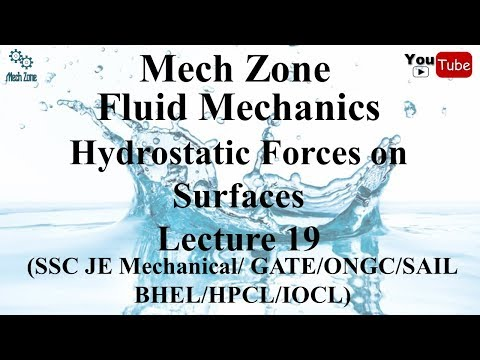 Fluid Mechanics lecture 19: Hydrostatic forces on plane and curved surfaces.