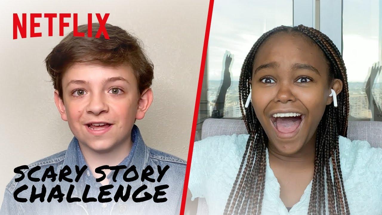 Scary Story Challenge 😱 Nightbooks   Netflix Futures