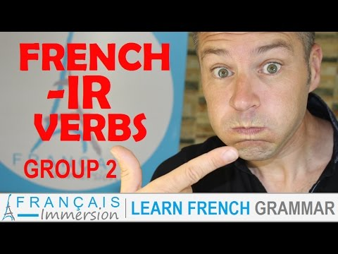 Ir verb conjugations french