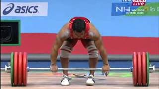 2009 World Weightlifting 77 Kg Clean and Jerk.avi
