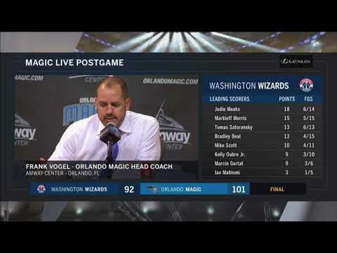Frank Vogel -- Orlando Magic vs. Washington Wizards 04/11/2018