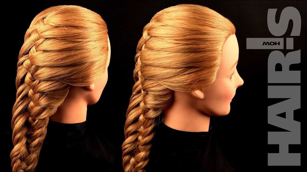 How to do an original French fishtail braid hairstyle video