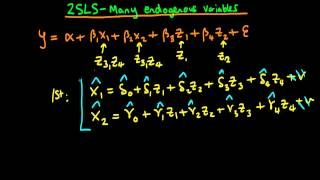 two stage least squares multiple endogenous explanatory variables