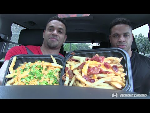 Wendy's Baconator Fries vs Ghost Fries Taste Test @hodgetwins
