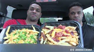 Wendy's Baconator Fries vs Ghost Fries Taste Test @hodgetwins