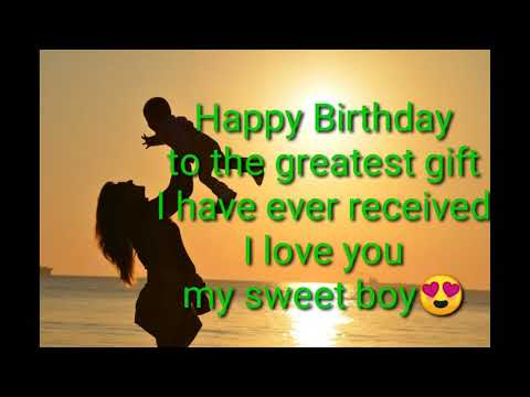 Happy Birthday Dear Son Whatsapp Status Youtube