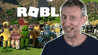 Micheal Rosen Plays Roblox Video