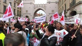 Massiver Streik in München  - Verdi stellt Forderungen