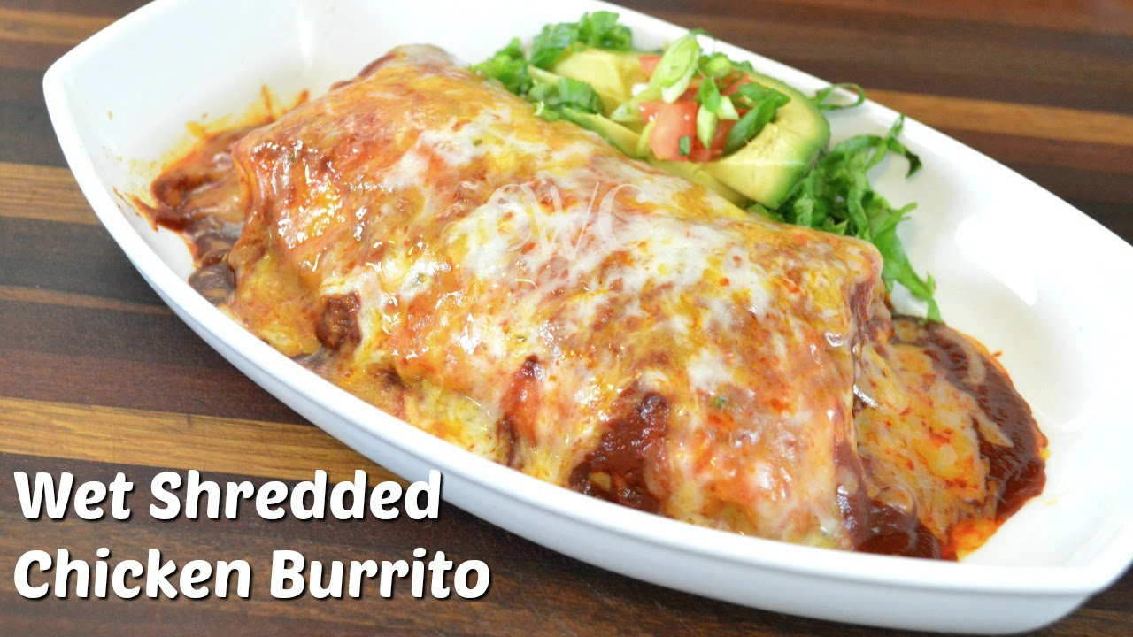 WET SHREDDED CHICKEN BURRITO RECIPE with VEGETARIAN OPTION |CROCK POT RECIPE |Cooking with Carolyn