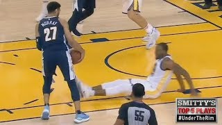 Jamal Murray Drops Iguodala! Stephen Curry Deep 3! Nuggets vs Warriors 2017-18 Season