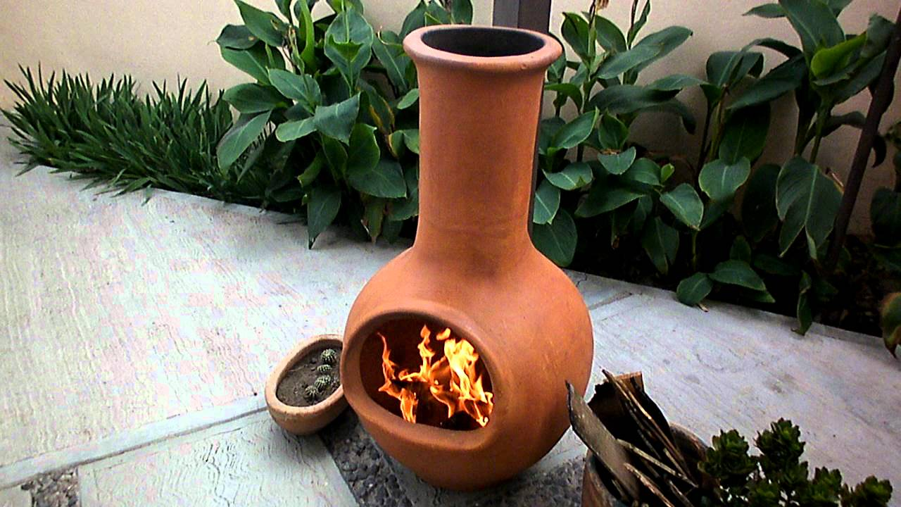 Chimenea de barro youtube for Chimeneas de jardin