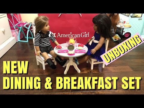 American Girl Dining Table And Waffle Breakfast Set NEW Unboxing