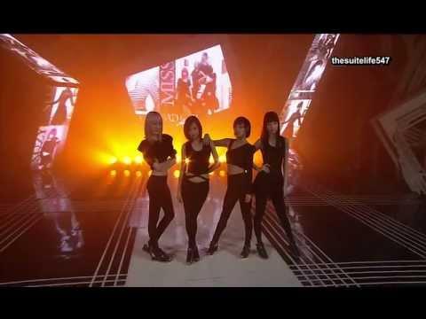 Miss A - Bad Girl Good Girl [Inkigayo] (10.08.15) {Hangul, Romanization, Eng Sub}
