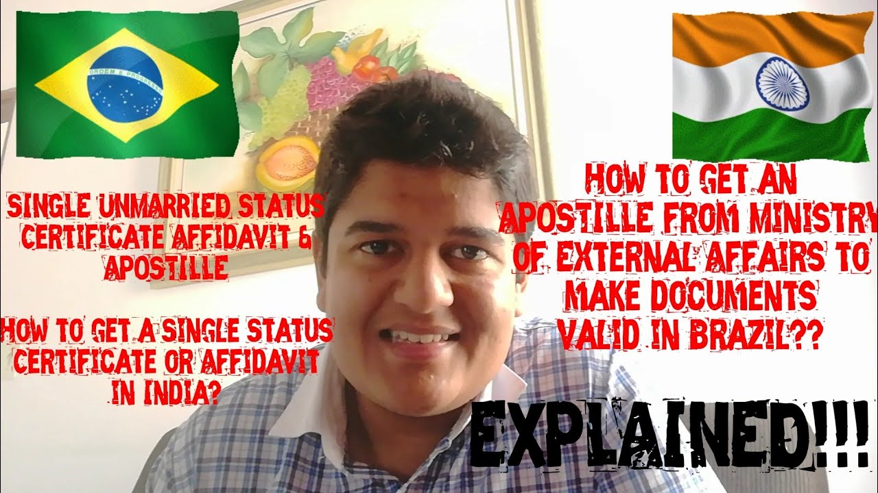 SINGLE/UNMARRIED Status CERTIFICATE & APOSTILLE! How to use INDIAN ...
