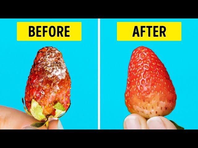 25 LIFE HACKS TO MAKE YOUR FOOD LAST LONGER