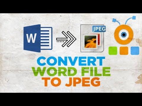 How To Convert Word File To JPEG | How To Convert Word Document To JPEG