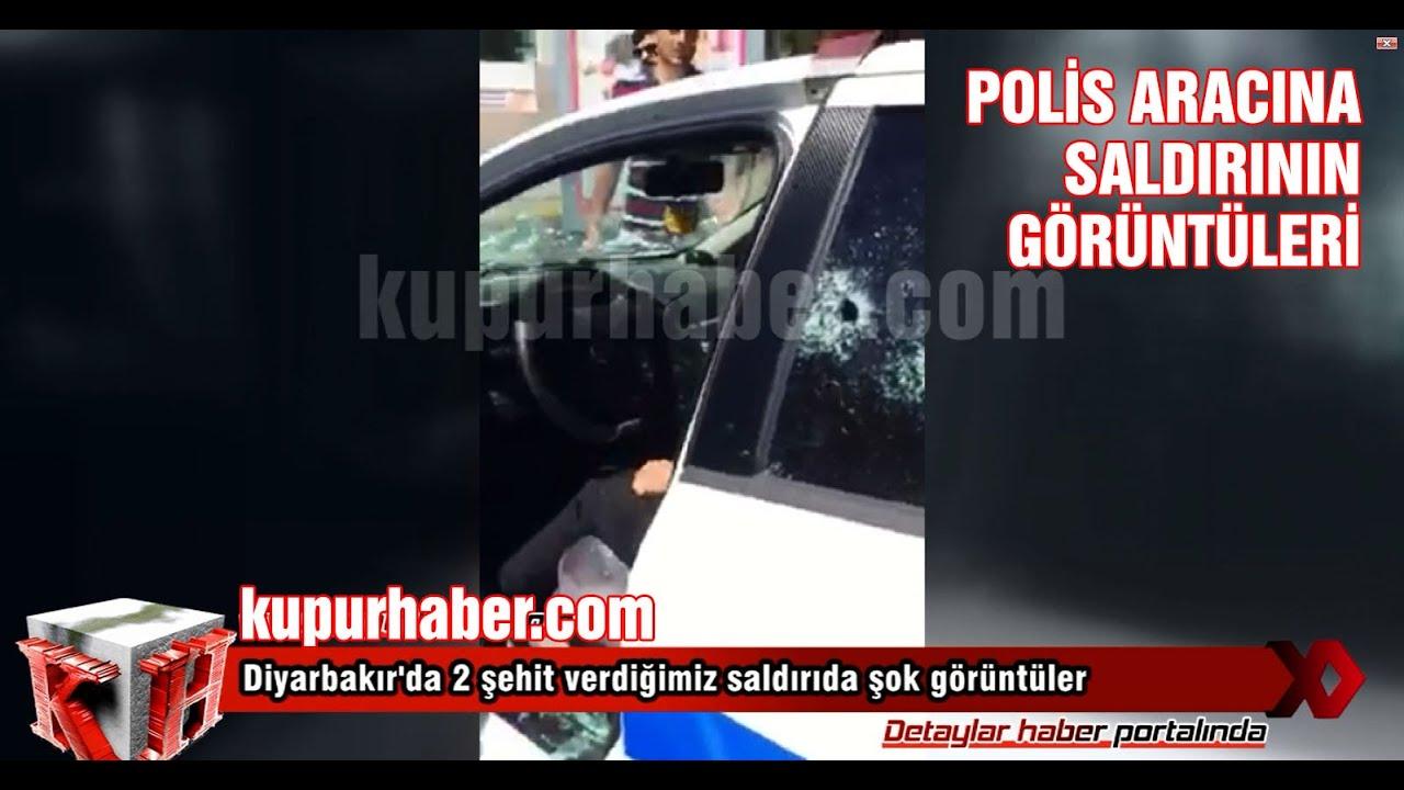Diyarbakır'da polis aracına saldırı anı