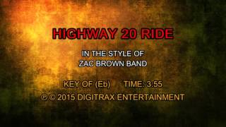 Zac Brown Band - Highway 20 Ride (Backing Track)