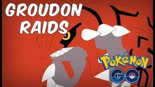 First Groudon Raids In Pokemon GO | How Many Can We Catch?