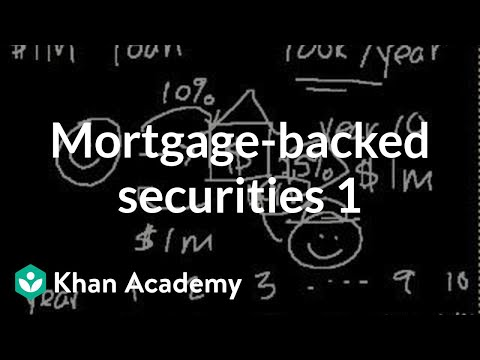 Mortgage-backed securities I | Finance & Capital Markets | Khan Academy