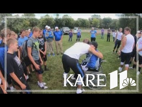 In SW Minnesota, football team's bus driver gets a surprise
