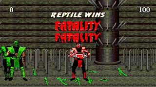 "Ultimate Mortal Kombat Trilogy - ""Dramatic Battle"" Reptile Team【TAS】"