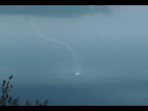 Tornado On Sea Bay In Haifa Caught On Camera