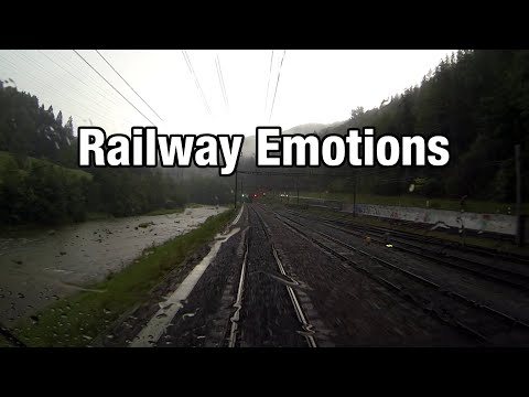 Heavy Train In Heavy Rain (Cab Ride Switzerland | Zurich - Lucerne)