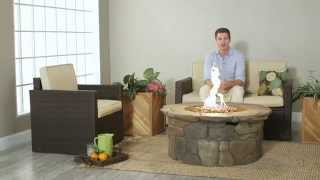 Red Ember 45 In. Clarksville Propane Fire Pit Table - Product Review Video