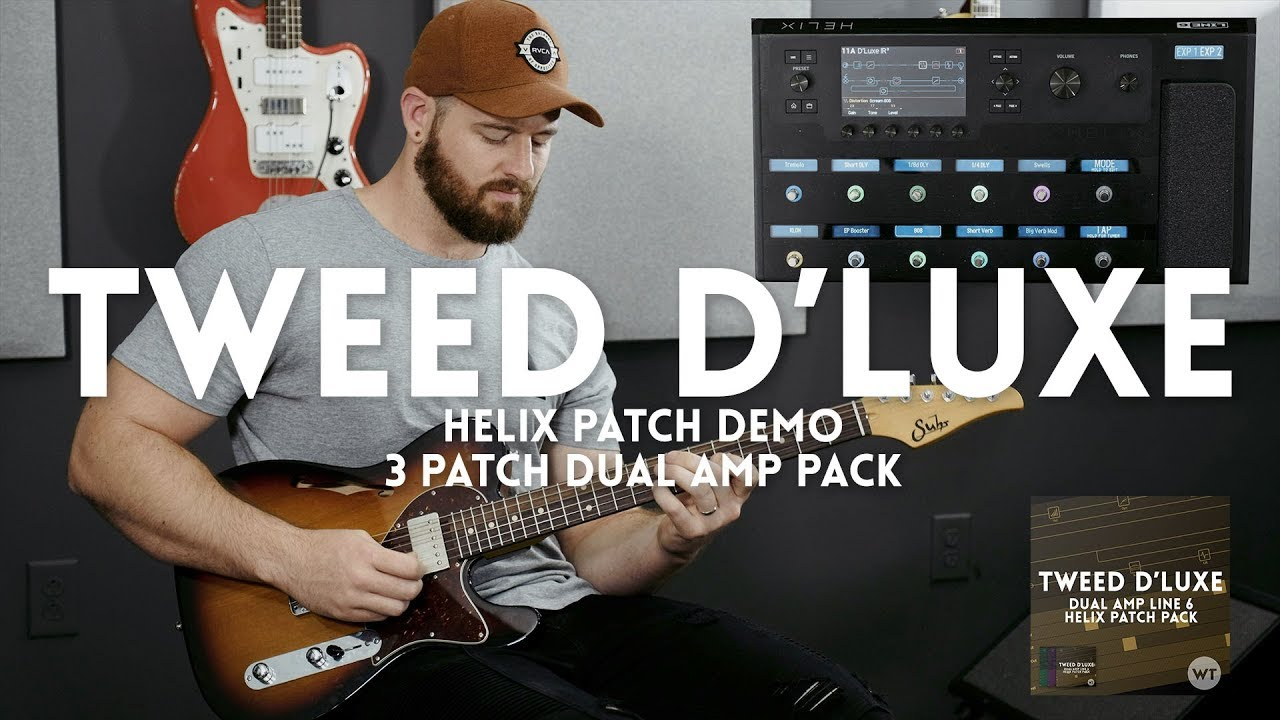tweed d 39 luxe line 6 helix patch demo three patches in one pack youtube. Black Bedroom Furniture Sets. Home Design Ideas