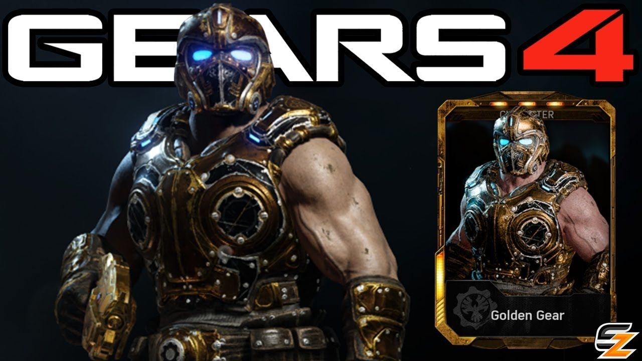 Gears Of War 4 QuotGolden Gearquot Character Multiplayer