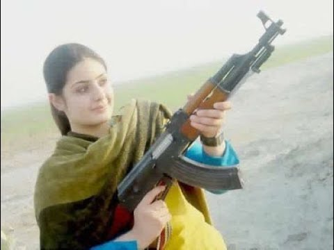 2 Girls Unloading their guns - AK-47 and AR-15 Bumpfire