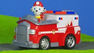 Paw Patrol Unboxing deutsch: Feuerwehrmann Marshall Feuerwehrauto & Bagger von Rubble für Kinder