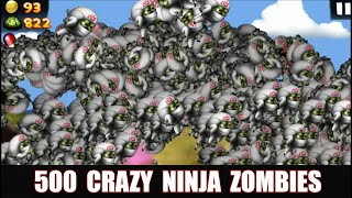 Zombie Tsunami: Lets Start With 500 Crazy Ninja Zombies !