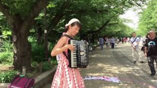 あんざいのりえ上野公園アコーディオンライブ2017 thumbnail