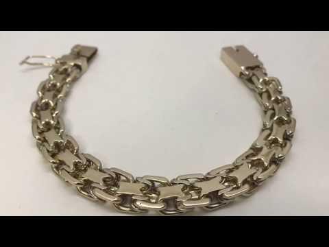 """Как сделать золотой браслет «2-й Московский Бит».How to make a gold bracelet """"Moscow Bit"""""""