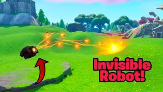Make your MECH ROBOT FULLY INVISIBLE in fortnite (Invisible B.R.U.T.E glitch)
