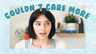 couldn't care more: a poem