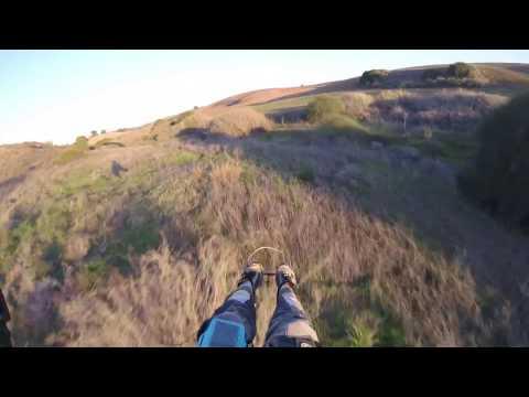 Raw, Low, Fast & Wild speedflying paramotor ride.