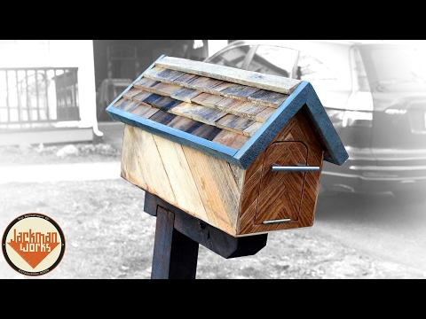 Wooden Mailbox (from trash to Christmas present)