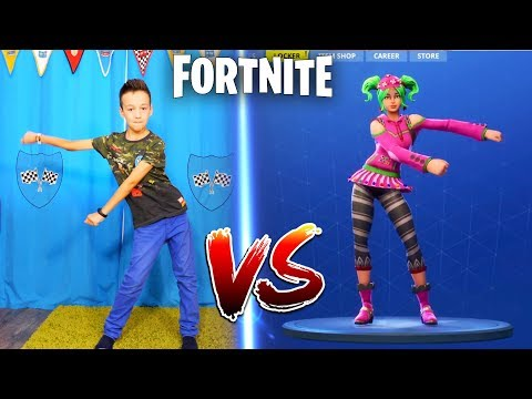 FORTNITE DANCE CHALLENGE! - In Real Life  Кто КРУЧЕ ТАНЦУЕТ ?