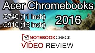 Acer C740 and C910 Chromebook Review