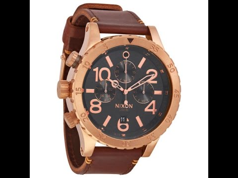 nixon watch a363 2001 48 20 chrono rose gold gunmetal brown review nixon watch a363 2001 48 20 chrono rose gold gunmetal brown review mens a3632001 ニクソン クロノ ゴームド ガンメタãƒ