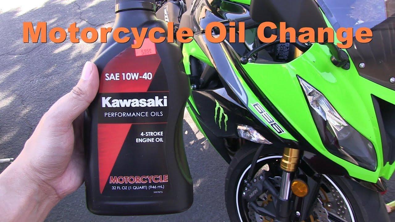 changing the oil & filter of a motorcycle - kawasaki ninja 636